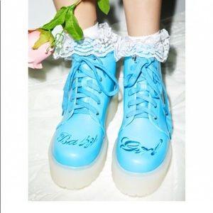 YRU BABY GIRL COMBAT BOOTS SIZE 8